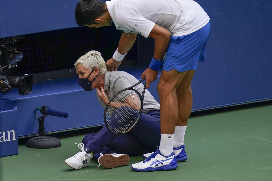Djokovic Urges Angry Fanbase Not To Turn On Us Open Line Judge The Tribune India