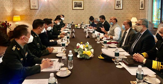 Rajnath meets Chinese Defence Minister categorically conveys India's position on recent developments