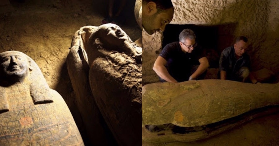Egypt discovers 2,500-year-old intact coffins