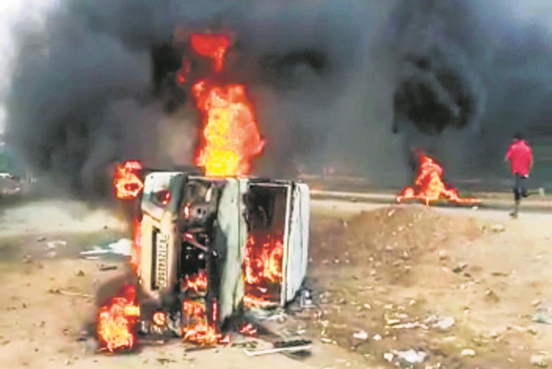 Vehicles torched, property vandalised in Dungarpur