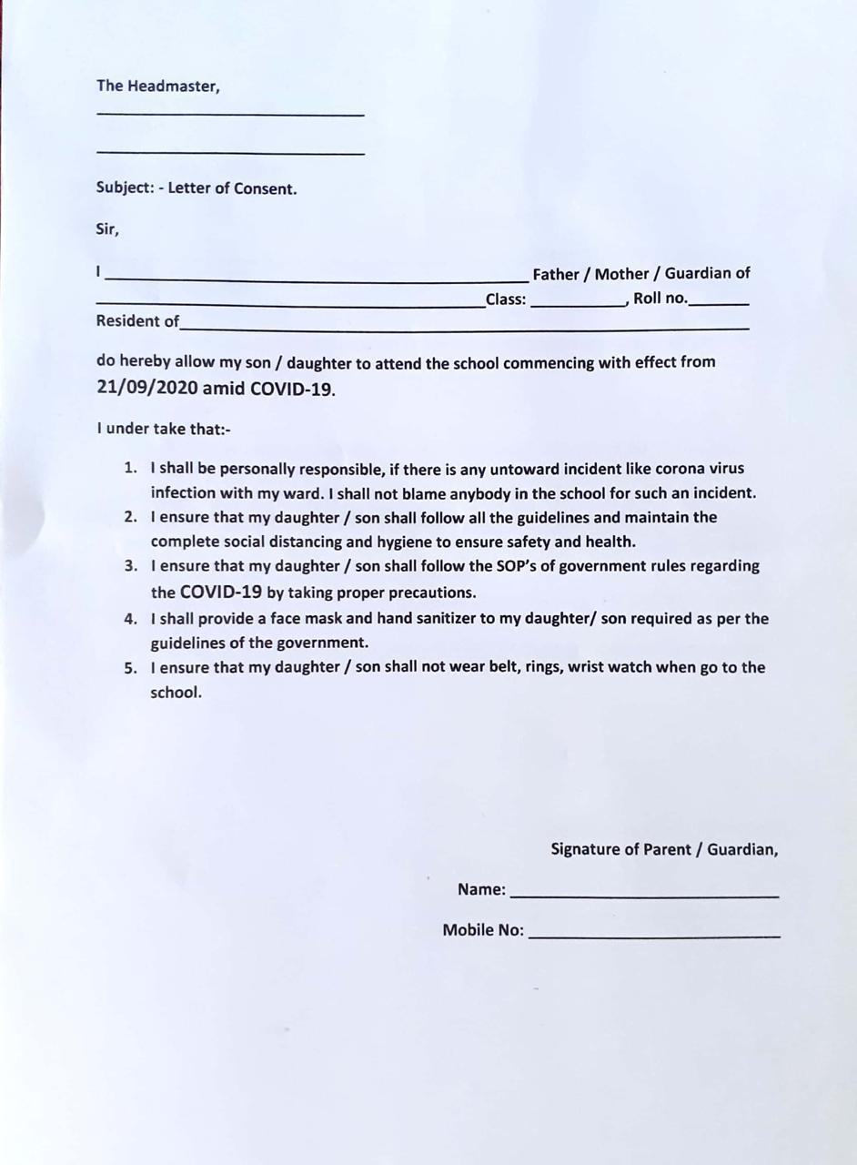 Parents Letter Of Consent from cmsimages.tribuneindia.com