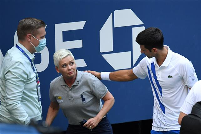 Djokovic Out Of Us Open After Hitting Line Judge With Ball The Tribune India
