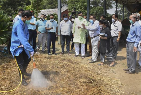 Stubble burning: Gopal Rai says Pusa institute's bio-decomposer can help reduce pollution