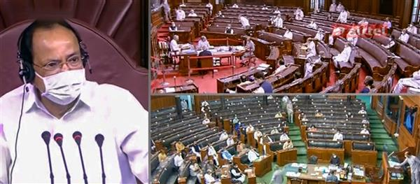 Rajya Sabha adjourned for the day after House suspends 8 MPs over unruly behaviour