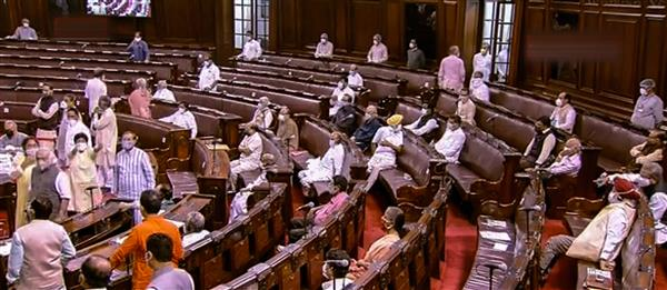 Lok Sabha adjourned as MPs in RS block seats in protest