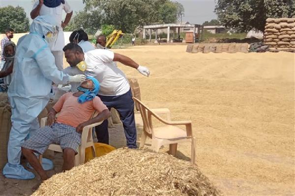 As paddy procurement kicks off, Patiala health departmentstarts corona tests at mandis