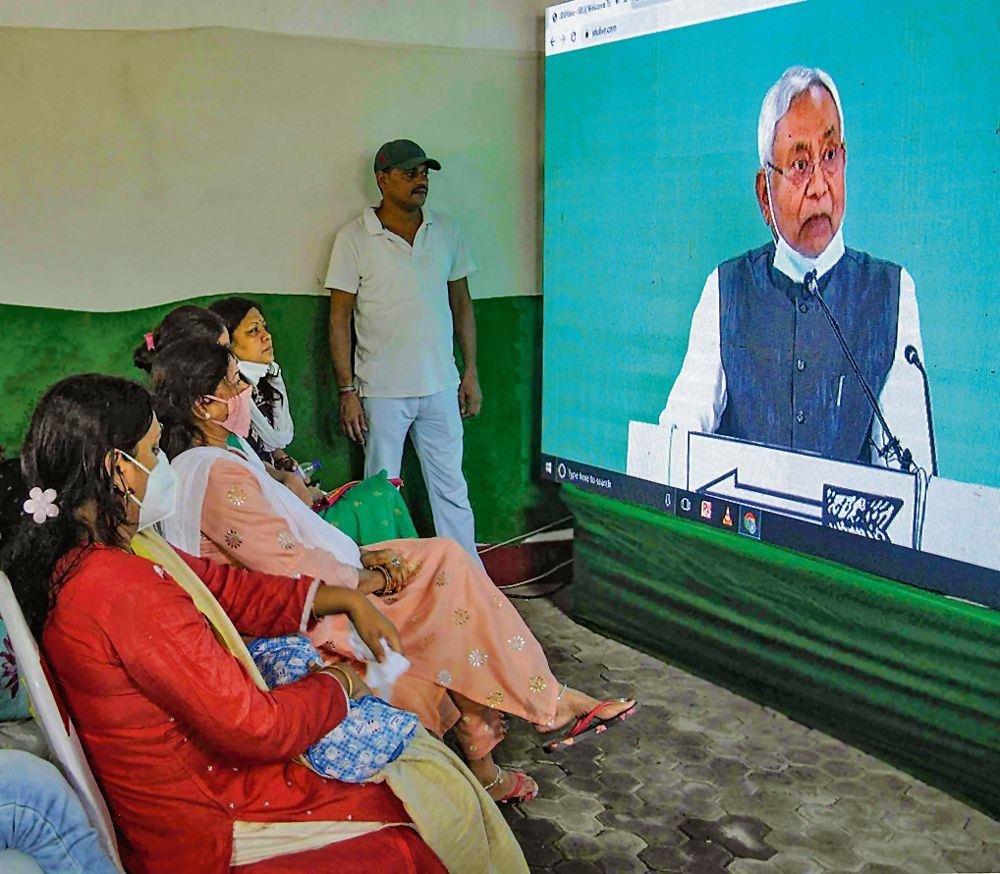 Nitish plays second fiddle as BJP sets poll agenda
