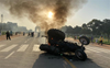 Tractor set on fire at India Gate: Police say five persons detained, identity being verified