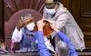 Heated debate on farm Bills in RS; Opposition members tear papers, heckle presiding officer