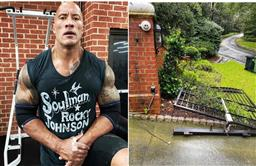 Dwayne Johson channels his inner 'Black Adam', rips off security gate with bare hands