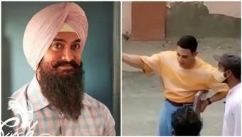 Aamir Khan spotted shooting for 'Laal Singh Chaddha' in Delhi; fan say 'he's looking so young'; watch
