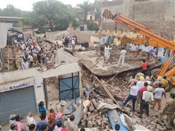 3 people trapped as under-construction building collapses in Punjab's Dera Bassi