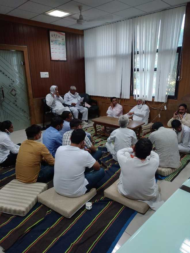 Rohtak ZP chief, members protest as officers 'fail to act'