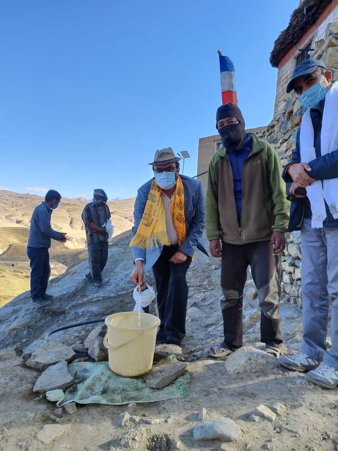 Country's highest water tap now in Kaza