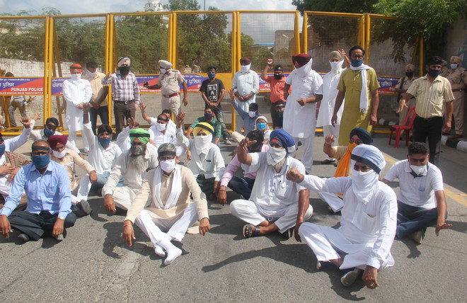 Former MLA protests over sealing of marriage palace in Bathinda