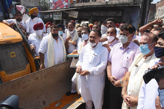 Congress MLA launches nullah project