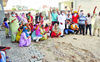 Patiala residents, AAP workers protest poor condition of roads