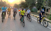 Cycle rally to increase nutrition awareness held