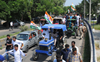 Youth Cong leaders hold tractor march