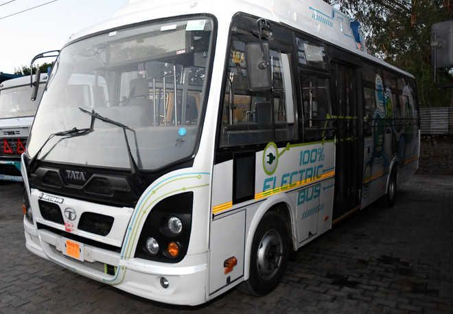 3 firms submit bids to operate e-buses : The Tribune India